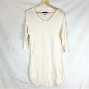 PARKHURST cream lightweight knit dress SZ S